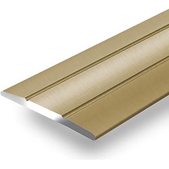 SOTECH 1 St/ück Aluminium /Übergangsprofil Cross selbstklebend /Übergangsschiene Alu flach Boden-Leiste mit Breite 37 mm Ausgleichsprofil Messing eloxiert Abdeckleiste 100 cm Bodenprofil Schiene
