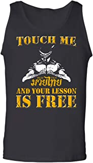 Muay Thai Born Kid,Touch Me and Your First Lesson is Free,Martial Arts Tank Top