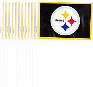 Amscan Officially Licensed NFL Plastic Flag 12 Count Pittsburgh Steelers
