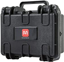 Monoprice Weatherproof/Shockproof Hard Case - Black IP67 Level dust and Water Protection up to 1 Meter Depth with Customizable Foam, 8