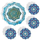 5 pezzi sottobicchieri stampo in silicone, set fai-da-te stampaggio in resina, stampi in silicone per arte in resina, sottobicchieri irregolari in resina epossidica per decorazioni domestiche