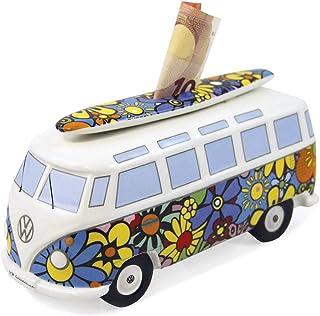 BRISA VW Collection - Volkswagen Combi Bus T1 Camper Van Tirelire en céramique, Petit Cochon avec Coffret Cadeau, Grande C...