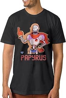 Men's Video Game Undertale Character Papyrus Short Sleeve T-Shirt Black