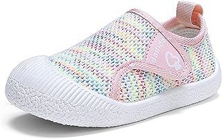 Pantofole da Casa Bambini Antiscivolo Scarpe Sportiv Ragazzi Ragazze Traspiranti Ciabatte da Maglia Casual all'Aperto Sneaker