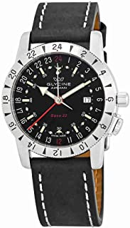 Glycine Airman Base 22 GMT Automatic Black Dial Mens Watch GL0207