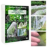 Garden Barrier Netting, Plant Covers 10x10Ft Ultra Fine Mesh Netting Protect for Vegetable Plants Fruits Flowers Crops Greenhouse Row Covers Raised Bed Barrier Screen Birds Animals Protection Net