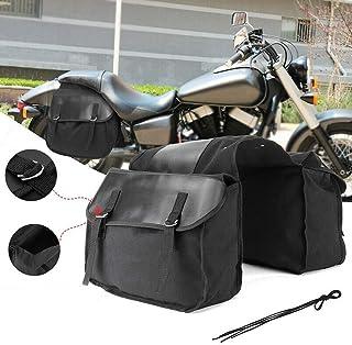 Supporto per bagagli laterali per moto Supporto per bagagli laterali per motocicletta Sostituzione accessori staffa per borsa da sella nero