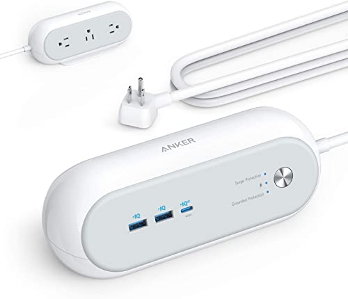 2021 Anker USB C Power Strip Surge Protector for Home Office, PowerExtend USB-C lowest 3 Capsule, 3 sale Outlets and 15W 2 USB Ports and 45W Power Delivery Port, 6 ft Power Cord, Flat Plug, Space-Saving Design sale