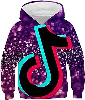 HIHIvia TIK Tok Sudaderas con Capucha Unisex Chandal Hoodie a Todo Color 3D Suéter Cálida con Forro Polar Fino Jersey Casu...