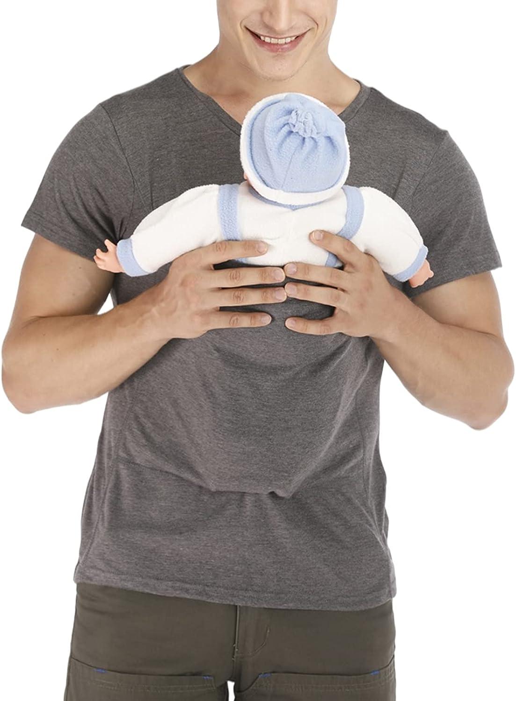Rosie Kangaroo Dad Men's T-Shirt Short-Sleeved Stretchy Infant Sling Baby Carrier Shirt 2 in 1 Big Pocket