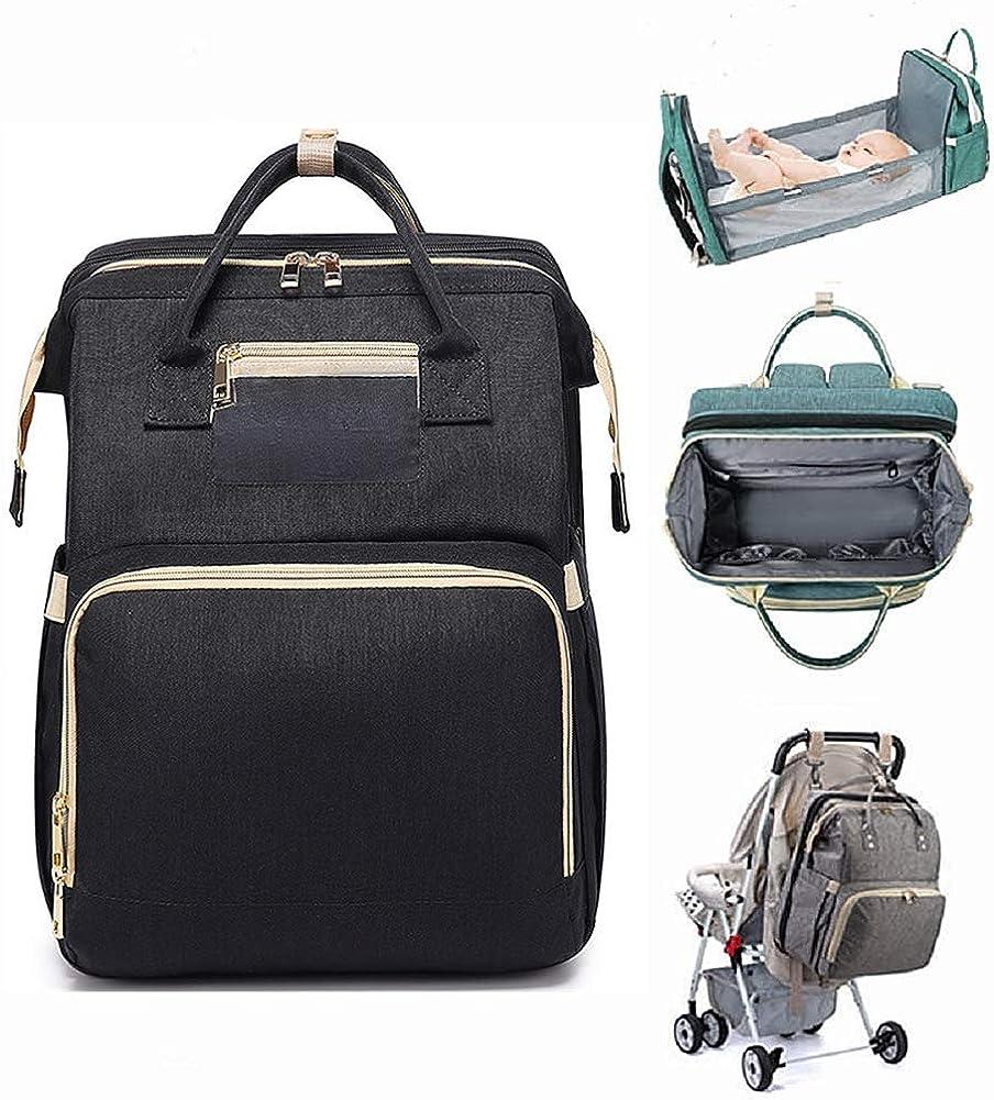 Mummy Backpack Portable Crib Nappy Bag Large Capacity storage Folding