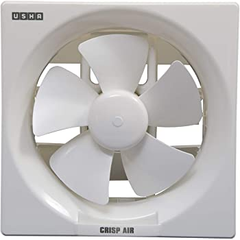 Usha Crisp Air 200mm Sweep size, 300mm Duct Size Exhaust Fan (Pearl White)