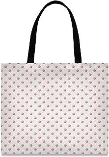 MONTOJ Damen Handtasche / Schultertasche aus Segeltuch, Rosa / Rot