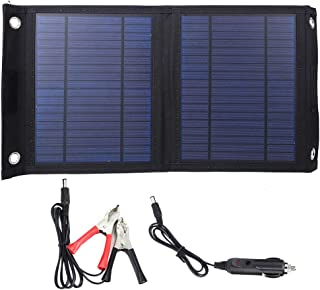 Suchinm 20W 18V Portable Solar Panel Charger Foldable Polysilicon Solar Panel for Hiking, Camping, Travel Emergency