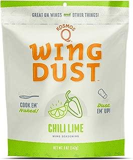 Kosmos Q Chili Lime Wing Dust | Chicken Wing Seasoning | Dry BBQ Rub Spice | 6 oz. Bag
