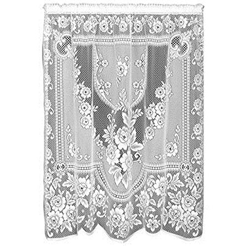 Heritage Lace Victorian Rose 60-Inch Wide by 84-Inch Drop Panel, Ecru
