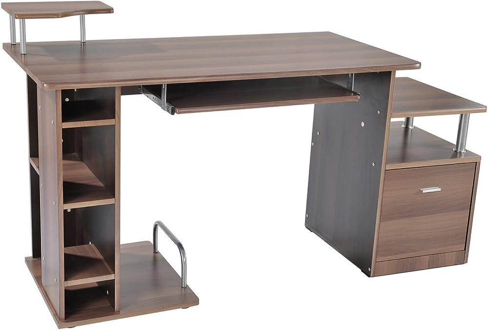 Homcom, scrivania da ufficio porta pc,in legno ITA2-0082Nuovo0631