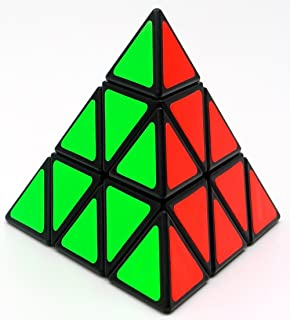 TANCH YJ Pyramid Speed Cube 3X3 Triangle Magic Cube Puzzle Toy Black