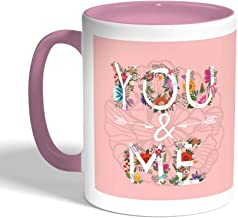 كوب سيراميك للقهوة بتصميم رومانسي، لون بنك