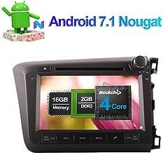 Flynavigo Android 7.1 Quad Core Car Stereo CD DVD Player In Dash Car Radio Head Unit with Bluetooth GPS Navigation for Honda Civic 2012-2013 RHD Support FM AM Mirror Link 1080P Video WIFI/3G