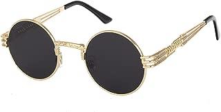 John Lennon Round Steampunk Sunglasses for Women Men Retro Metal Frame