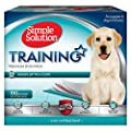 Simple Solution Training Puppy Pads | 6 Layer Dog Pee Pads, Absorbs Up to 6 Cups of Liquid | 23x24 Inches, 100 Count by Out International