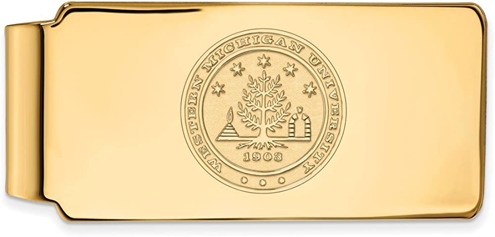 Solid Max 81% OFF 10k Yellow Gold Official Michigan Slim Western Long-awaited University