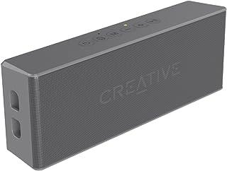 مكبر صوت Muvo 2 قابل للحمل ومقاوم للماء ومزود بتقنية البلوتوث مع مشغل ام بي 3 مُدمج من كريتيف، لون رمادي