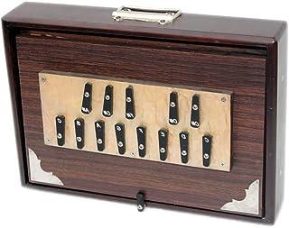 NEW Shruti Box Chopra Musical Shruti Box Large 16x12x3 Inches Sur Peti Surpeti, With Bag, Natural Color, Musical Instrumen...