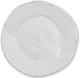 Vietri Lastra Light Gray European Dinner Plate