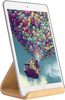 SAMDI Soporte de Madera para iPad, Universal Madera Tablet PC Soporte de teléfono Soporte para Apple iPad Mini Air 2 3 4 iPhone 6 Samsung 10.1 Galaxy S5 S4 Lenovo LG Google Nexus Pad (Abedul Blanco)