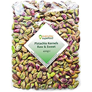 Pistachio Nuts Kernels 400g Grade No.1 Raw Shelled Pistachios Unsalted Pistachios Kernels Ideal for Pistachio Snacks or Desserts Cakes & Pudding an Everyday Superfood