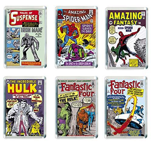 REFRIGERATOR MAGNET Set of 6 Marvel Super Heroes Fridge Magnets - 002