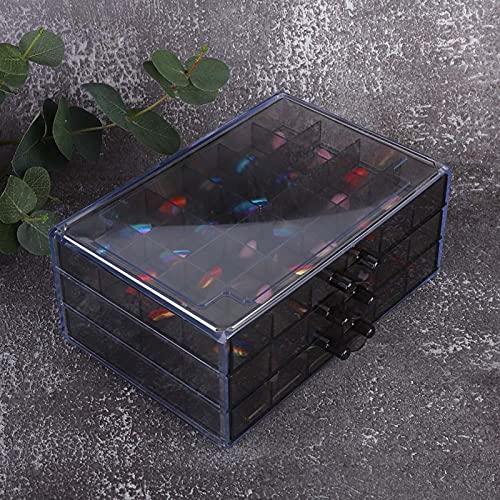 Nail Art Aufbewahrungsbox Drei Schichten Große Kapazität Nail Art Werkzeugkoffer für den Haushalt für den professionellen Gebrauch für den Nagelstudio für den täglichen Gebrauch(Translucent)
