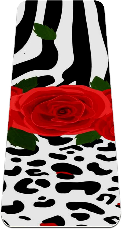 Yoga Mat Non Slip TPE Leopard Direct sale of Japan's largest assortment manufacturer Avoi Padding zebra Density to High