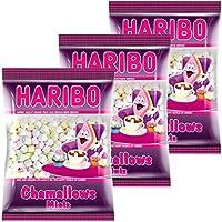 Haribo chamallows Minis, Juego de 3, Espuma Azúcar, Marshmallows, mauses Peck, 3Bolsas Cada uno 200g