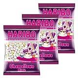 Haribo Lot de 3 sachets de Chamallows Minis, guimauve, 3sachets de 200g