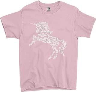 Threadrock Big Girls' Unicorn Typography Youth T-Shirt