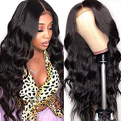 body wave closure wig 18