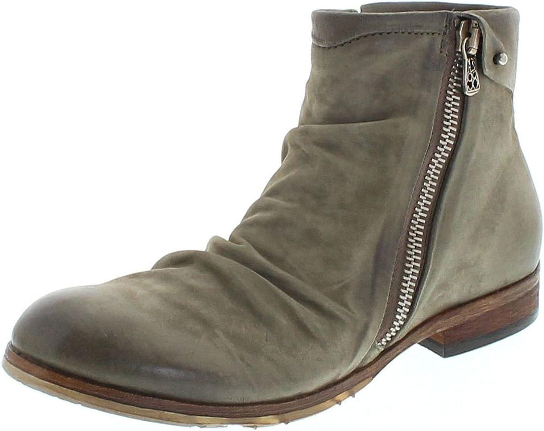 FB Fashion Stiefel A.S.98 401216 Militare Lederstiefelette für Herren Grün Chelsea Stiefel