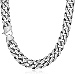 Trendsmax 15mm Curb Cuban Chain Link Necklace for Men Boys Heavy 316L Stainless Steel Silver Gold Color 18 20 24 30 inch
