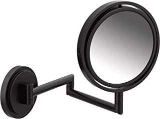 Moen YB0892BL Arris Dual-Sided Extendable Magnifying Mirror,  Matte Black