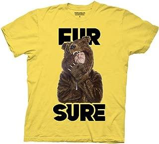 Workaholics Fur Sure Blake Adult Yellow T-Shirt