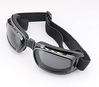 WEQQ - WEQQ Gafas de Moto Gafas de Sol polarizadas para Ciclismo de día y Noche Gafas de Sol Gafas (Montura Negra, Lente Gris)