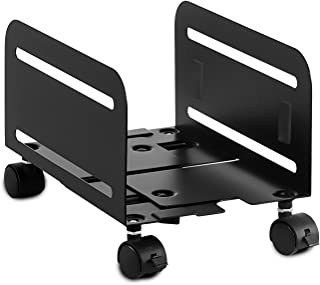 Mount-It! Universal PC Tower Stand | Rolling CPU Stand with Locking Caster Wheels | Adjustable Width Desktop Computer Towe...