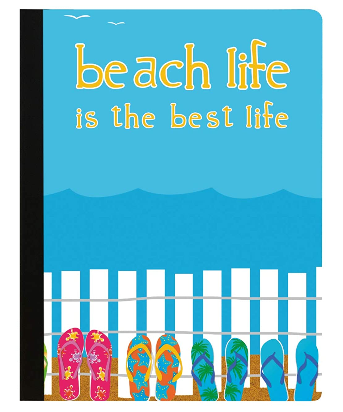 Tree-Free Greetings Beach Life Soft Cover 140 Page  College Ruled Notebook, 9.75 x 7.25 Inches (CJ48378)