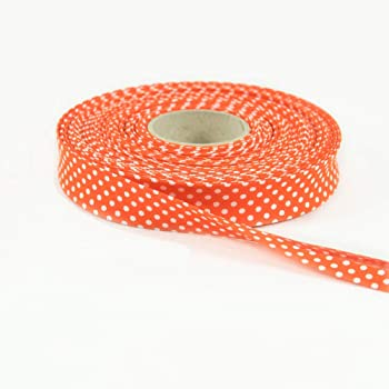 gedeacc-kreativ 1 Meter Schr/ägband Vichy Karo 18 mm orange wei/ß