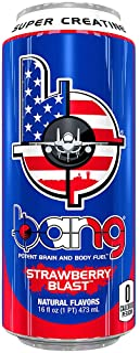 Bang Energy Drink with CoQ10 Creatine Strawberry Blast (12 Drinks, 16 Fl Oz. Each)