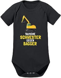 Shirtcity Tausche Schwester Gegen Bagger Baby Strampler by