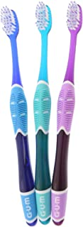 GUM Technique Deep Clean Toothbrush - 525 Soft Compact, Colors May Vary (Pack Of 3)
